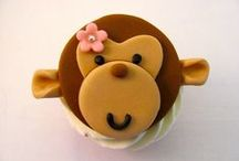 animal cupcakes / animal cupcake decoration