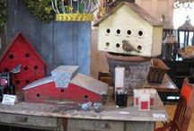 """For the Birds / We love birds at Sisters Garden and Bloom! Birdhouses, eggs, nests, birdies, and other """"tweet"""" things that are all about our feathered friends!"""