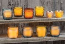 Glass Jar LED Candle Collection / New for 2015, the Candle Impressions line of glass jar LED candles is trending and decorator-approved. With a timers and extended battery run times, they're as easy to use are they are cute.