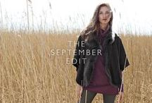 The September Edit / Inject warmth and depth into your wardrobe this autumn with rich burgundy and navy blue hues in chunky knits, luxe layers and A-line silhouettes: the perfect palette to effortlessly take a casual look to a formal favourite.