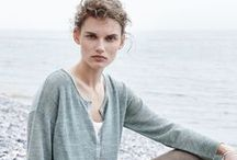 New Horizons / Where the ebbing tide meets the pebbled coast, a mid-summer story unfolds and a new horizon comes into focus as you look out into the endless sea and across to the steep, chalky cliffs above.  Fresh natural fabrics meet relaxed and unstructured silhouettes for an everyday, luxe look, complimenting the natural, undulating landscape that frames the shoreline.