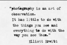 Inspirational Words / Photography Inspiration and Quotes