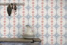 Historiska Tapeter / This is a unique collection with reconstructed Swedish designed wallpaper based on fragments of old wallpaper from the 19th century. Our aim was to endeavoring and retain their soulful, time-worn finish.