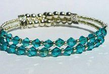 Swarovski Crystal Double Bracelet / All Items are handmade and shipped worldwide via 1st class post www.facebook.com/LittleHandmadeStore