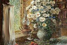 Цветы / Притягательная красота природы-в живописи ,фото .