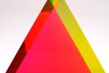 Neon pop gold and rainbow