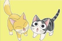 Chi's sweet home / One of the most adorable manga/anime out there for cat lovers.  The offical art is from Konami Kanata