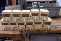 Werkstukken hout / Werkstukken houtbewerking leerlingen Futura College, Woerden.