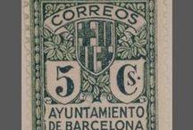 Segells de Barcelona / Segells de caràcter històric amb vistes, elements simbòlics o monuments de la ciutat