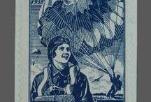 Papers de dona / Galeria filatèlica amb segells que mostren la figura femenina de diferent manera: model amb indumentària regional, la dona treballadora, etc