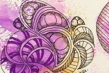 Zentangle ® , ZIA, Doodle / I love the easy way of being creative with Zentangle, Zentangle Inspired Art (ZIA) and Doodleing. Zentangle, tangle, mindfulness, happiness, zeichnen, drawing, yoga, mentaltraining, gelassenheit, relax, body, soul, tangle, tangles, stepout, muster, doodle, pattern, patternlove