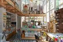 Art Studios / Great Studio spaces for artists. Inspiration flows naturally there.