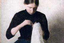 Women at needlework / by Helga Mast