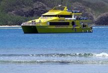 The Yasawa Flyer / The Yasawa Flyer is a modern catamaran. This vessel will take you to and from the Yasawa Islands. The staff are friendly and the view from the deck is awesome. Book with Awesome Adventures Fiji.