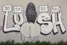 Lu$lh sux lDix / Lush StreetArt