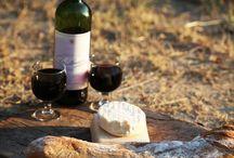 wine, cheese and chocolate