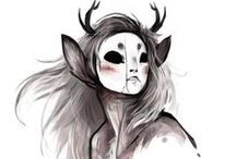 ☆ Concept Art / Fantasy characters and post apocalypse illustrations (?)