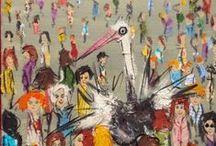 Michaela Kasparova for Livin'art / acrilico su tela collage
