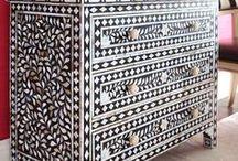 Bone Inlay Möbel / bone inlay diy, bone inlay möbel, Bone Inlay marokkanische Muster, indische Bone Inlay Kommode, stencil, Möbel indische Muster, indische Möbel, Möbel aus Indien, indische Dekoration, Deko Indien, indische accessoires deko,  antike indische möbel, indische Einrictungsideen
