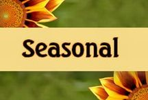 Seasonal / Lovely pins for fall and spring, winter and summer.  Also great other holiday pins.