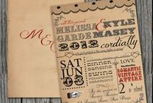 Wedding invitations & save the date cards vintage style / Great vintage style wedding invites and stationary