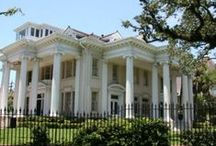 New Orleans Architecture / Columns, gables, wrought iron and more.