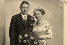 Vintage wedding photos / Bride and grooms from days gone by...