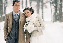 Winter vintage wedding style