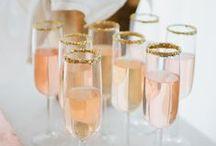Vintage lovers wedding drinks