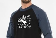 UAX! Men's wear / Men's clothing brand UAX!. Leisure, sports, recreation and outdoor activities. Men's T-shirts printed with a men's sweatshirt with print, pants, shorts and other high-quality menswear brand UAX!