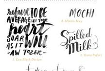 hand lettering/ calligraphy