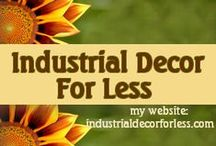 Industrial Decor For Less / Do you love industrial chic decor, but not the prices you have to pay to get it?  Try my site industrialdecorforless.com and I guarantee you will get what you need for much less than you ever dreamed!