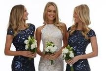 Bridesmaids / Gone are the days of mint green taffeta. Now your bridesmaids can look almost as gorgeous as YOU!......almost!