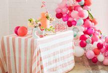 Ideias/festas / Ideias para lembrancinhas, bolos e decoração de festas