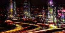 Night city lights (Огни ночного города)