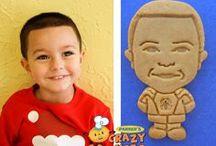 Kid's Birthday Ideas / Custom Cookies of children for their birthdays!