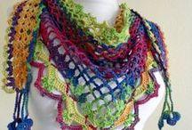 crochet scarfs, cowls & ponchos
