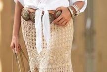 crochet skirts & dresses