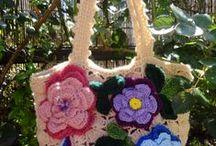 crochet bags & flowers