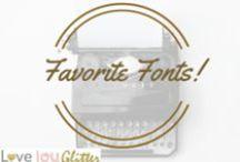Favorite Fonts!