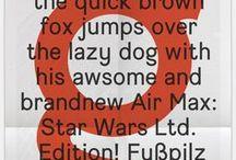 Typefaces / Inspiring typefaces