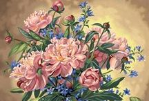 Virágok festményen I.