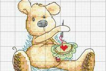 Embroidery Newton bear
