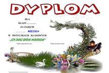 Dyplomy (Dyploms) / Zdjęcia dyplomów bibliotecznych przygotowanych przez p. J. Pawłowską  z okazji różnych konkursów bibliotecznych