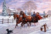 Téli festmények / Szép téli festmények és képek.