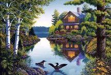 Házak vízparton