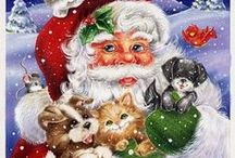 Karácsony és Mikulás / Szép Karácsonyi képek és a Mikulásról festmények,képek és rajzok.