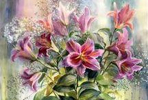 Virágok festményen II.
