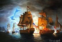 Hajók festményen