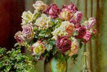 Virágok festményen III.